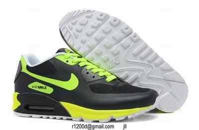 air max 90 noir vert fluo